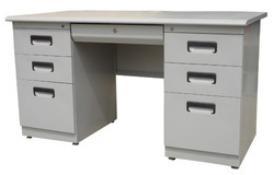 MS Rectangular Steel Office Table, No. Of Drawers: 6, for Corporate Office