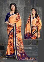 Cotton Party Wear Multicolor Saree, 5.5 m (separate blouse piece)