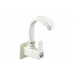White/Ivory PTMT Sink Cock With Flange