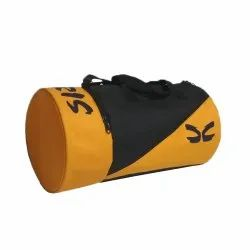 Caris Polyester Orange Gym Bag