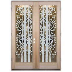 Etching Door Glass, Thickness: 4 to 12 mm