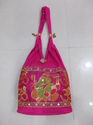 Green And Orange And Many More Embroidered Cotton Shoulder Bags
