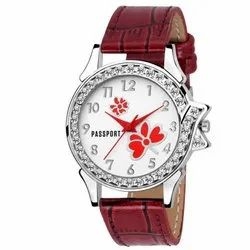 Round Ladies Wrist Watch