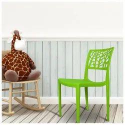 Diya Green Cafeteria Plastic Chairs, Warranty: 1 Year