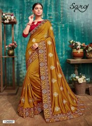 Fancy Designer Vichitra Silk Saree