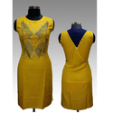 Ladies Yellow Casual Kurti