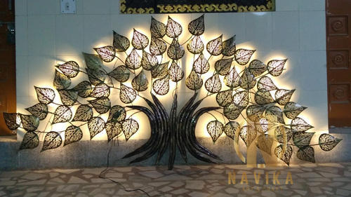 78d392e489 Copper & Gold 96 X 48 Inches LED Metal Tree Wall Art, Rs 5000 /piece ...