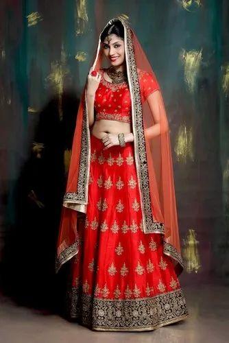 f0b78edf12 Indian Ethnic Designer Mulberry Red Bridal Wear Lehenga Choli at Rs ...