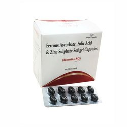 Ferrous Ascorbate, Folic Acid & Zinc Sulphate Softgel Capsules