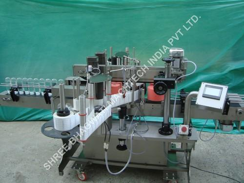 Sticker Labelling machine, Labeler - Front and Back Bottle
