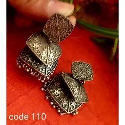 Sipani Zinc And Brass Oxidized Earrings