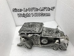 Art Decore Silver Plated Car