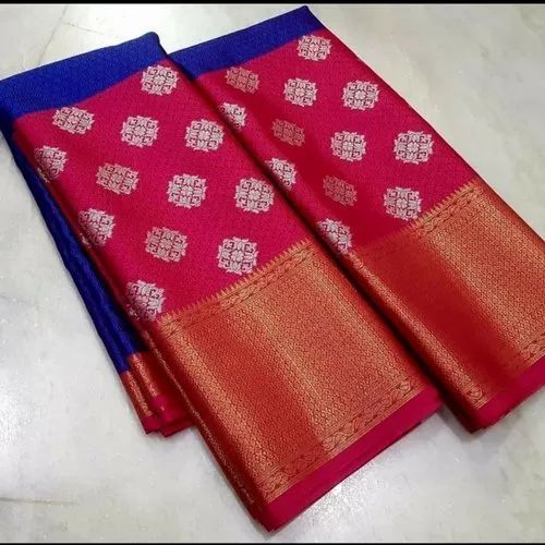 Zari Party Wear Banarasi Tanchui Saree, 6 M (with Blouse Piece)