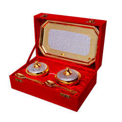 Gold And Silver Plated Mouth Freshener Set
