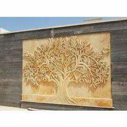 Designer Tree Stone Mural