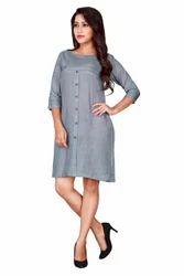 Grey Straight Summer Dress