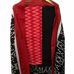 M.J Creation Cotton Designer Suit Material, Handwash