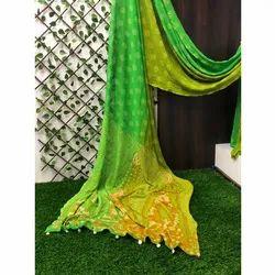 Ladies Designer Chiffon Bandhani Saree