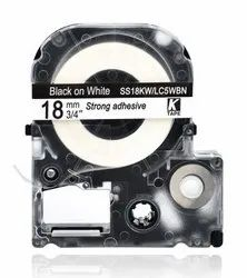 LK-5WBN Compatible for EPSON LK5WBN Label Tape Black on white 18mm x 8m
