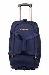 Navy Blue, Orange D-Lite Expander Luggage Trolley Duffel Strolley