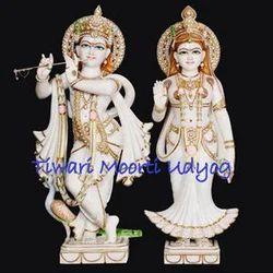 White Marble Radha Krishan Statue