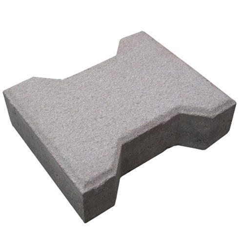 Gray Cement Interlocking Tile, Thickness: 60-80 mm