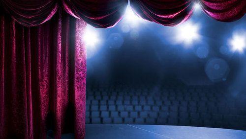 auditorium motorized stage curtain frills