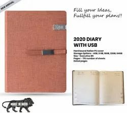 Diary with USB Pendrive