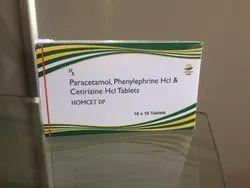 Homecet DP Paracetamol, Phenylephrine HcI & Cetirizine HcI Tablets