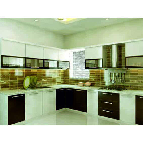 L Shaped Modular Kitchen Service: L Shape Modular Kitchen Manufacturer