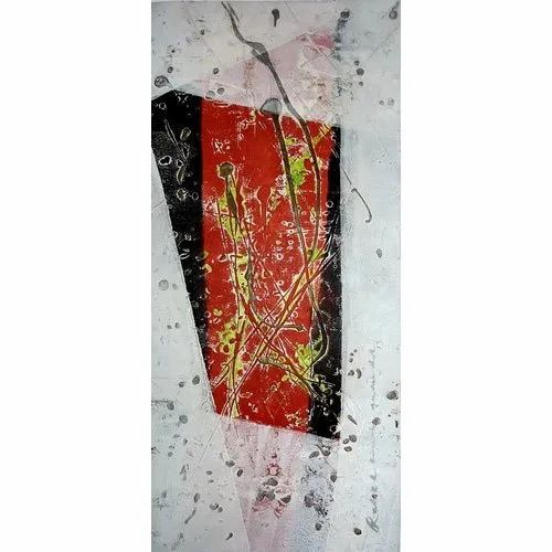 Modern Art Without Frame Handmade Canvas Painting, Size: 11 X 30 Inch