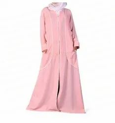 Pink Patch Pocket Abaya