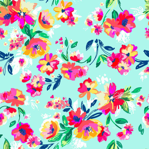 Satin Digital Printed Floral Design Fabric, Use: Laces & Borders ,GSM: 100-150