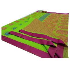 Cotton Saree With Jacquard Print Blouse, 6.3 M (with Blouse Piece)