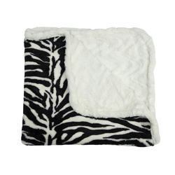 Ivory White Baby Cannon Reversible Blanket