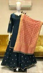 Cotton Chanderi Designer Suits