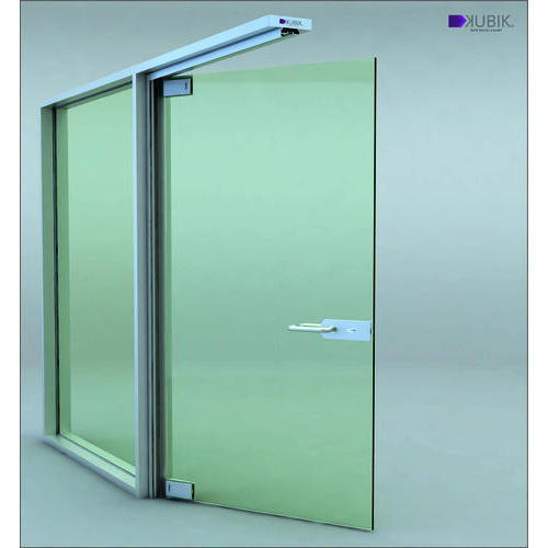 Plain Glass Door Partition Rs 350 Square Feet K Line Solutions