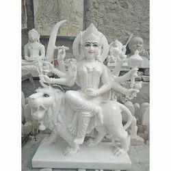 30 Inch Marble Durga Mata Statue