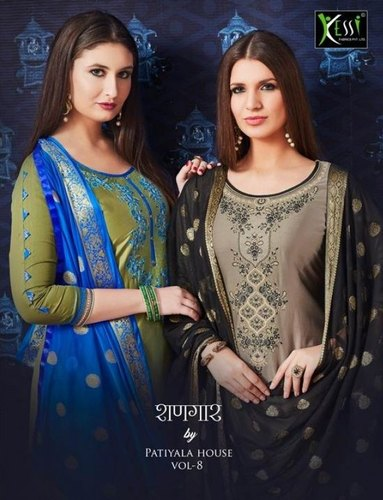 75c911c672 Regular Wear Cotton Patiala Embroidery Dress Material, Rs 999 /piece ...