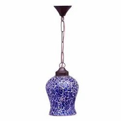 Handmade Glass Mosaic Hanging Lamp, For Home & Hotel Decoration