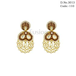 Meenakari Kundan Handmade Earrings