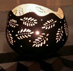 Iron Round Leaf Candle Holder
