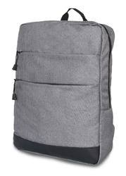 Double Front Pocket Slim Gray Backpack
