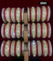 Metal Red Bridal Bangles