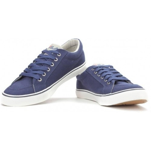 Navy Blue Canvas Shoes, Size: 6 to 7