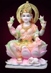 White Marble Laxmi Statues