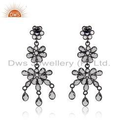 Trendy Rhodium On Silver Moonstone Earring Jewelry