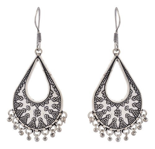 Beautiful Oxidized Silver Dangelling Earrings