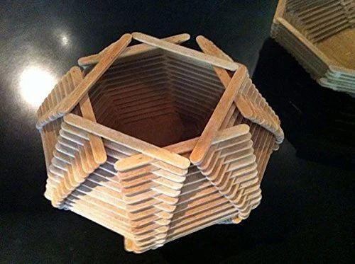 2069d3ffc7 Wood Craft Dev Plain Wooden Ice Cream Sticks, Rs 13 /packet | ID ...