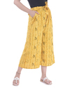 Ladies Rayon Yellow Culotte Pant